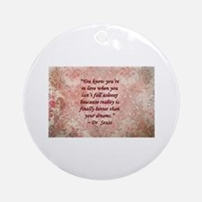 Dr. Seuss Quote Round Ornament