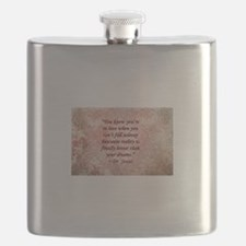 Dr. Seuss Quote Flask