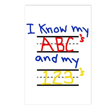 ABCs and 123s Postcards (Package of 8)