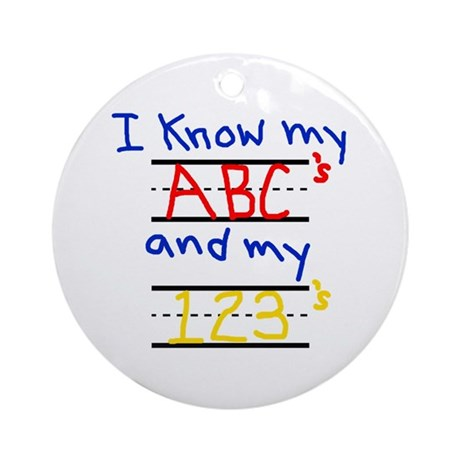 ABCs and 123s Ornament (Round)