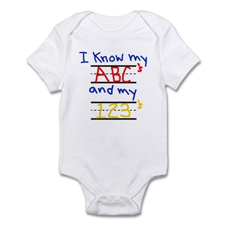 ABCs and 123s Infant Bodysuit