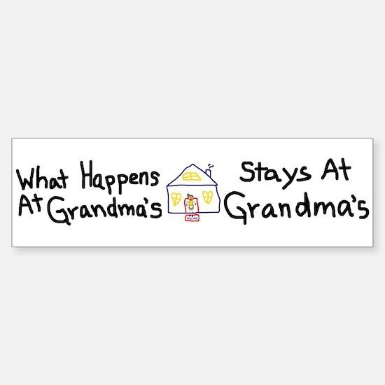 Grandma's House Bumper Bumper Bumper Sticker