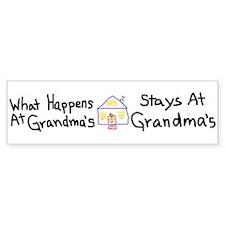 Grandma's House Bumper Bumper Sticker