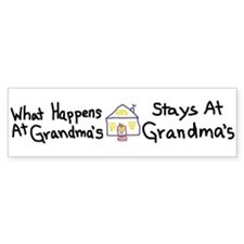 Grandma's House Bumper Stickers