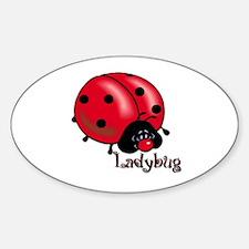Chubby Lil' Ladybug Oval Decal