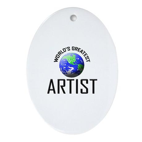 World's Greatest ARTIST Oval Ornament