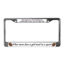 Football Girl License Plate Frame