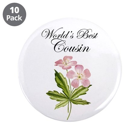 "World's Best Cousin 3.5"" Button (10 pack)"