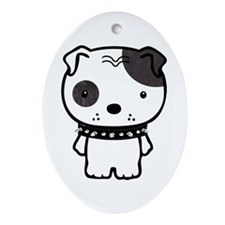 Spike Pit Bull Oval Ornament