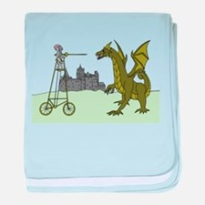 Knight Riding A Tall Bike Slaying A D baby blanket