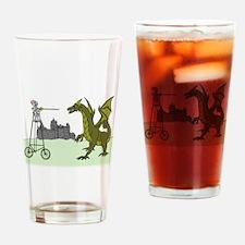 Knight Riding A Tall Bike Slaying A Drinking Glass