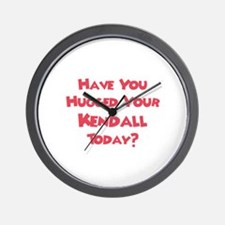 Have You Hugged Your Kendall? Wall Clock