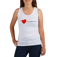 I love conjugation Women's Tank Top