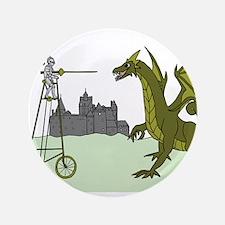 Knight Riding A Tall Bike Slaying A Dragon Button