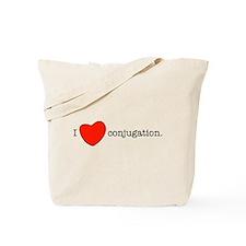 I love conjugation Tote Bag