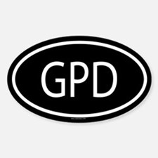 GPD Oval Decal