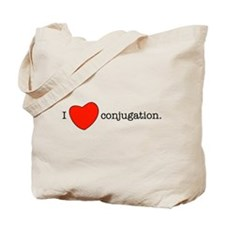 I love conjugation Tote Bag