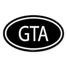 GTA Oval Bumper Stickers