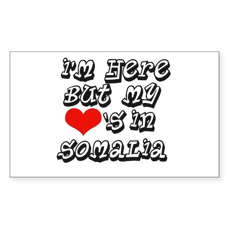 my hearts in Somalia Rectangle Sticker