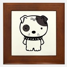 Spike Pit Bull Framed Tile