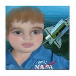 Baby Aviator Astronaut Tile Coaster