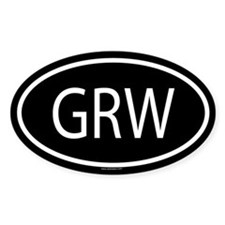 GRW Oval Bumper Stickers