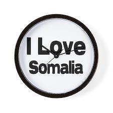 I love Somalia Wall Clock