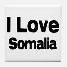 I love Somalia Tile Coaster