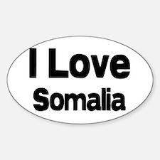 I love Somalia Oval Decal