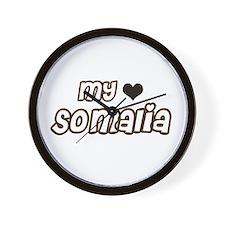 my heart Somalia Wall Clock