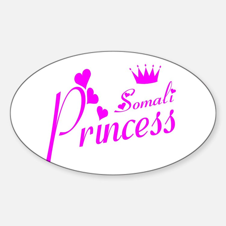 Somali princess Oval Decal