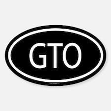 GTO Oval Bumper Stickers