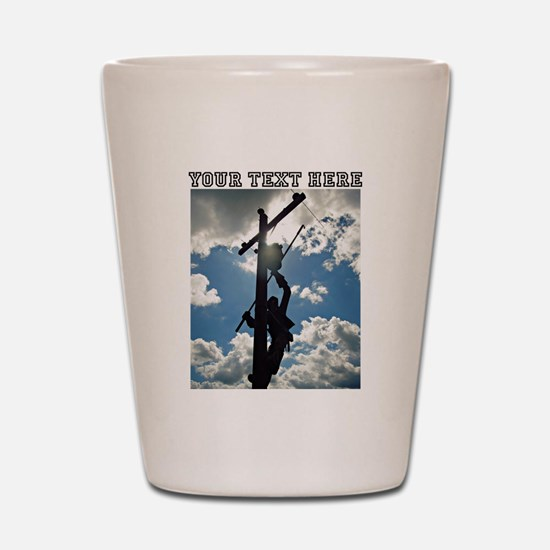 Personizable Rusty the Lineman Shot Glass