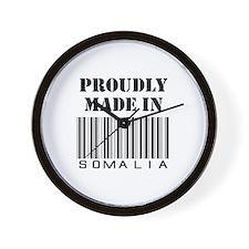 made in Somalia Wall Clock