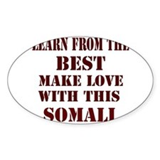 Learn from this Somali Oval Decal