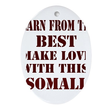 Learn from this Somali Oval Ornament