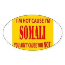 Hot Somali Oval Decal