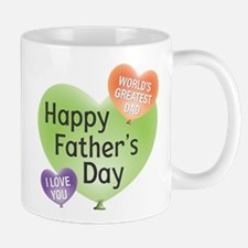 Happy Father's Day Heart Ballons Mugs