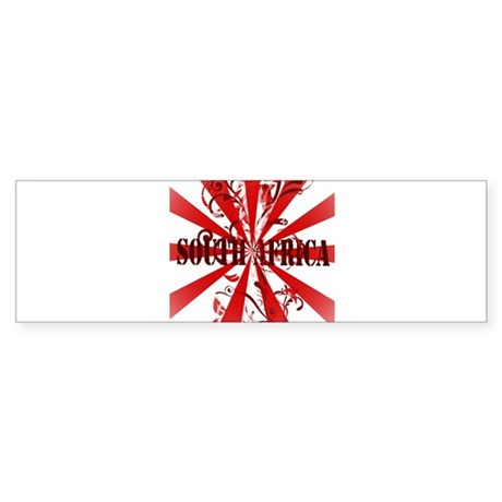 South Africa red vintage Bumper Sticker