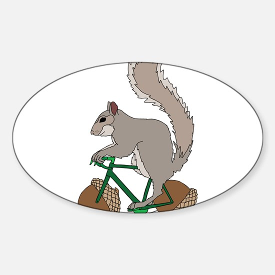 Squirrel On Bike With Acorn Wheels Decal