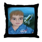 Baby Aviator Astronaut Throw Pillow