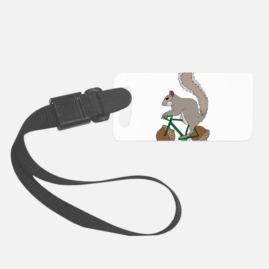 Squirrel On Bike With Acorn Whee Luggage Tag