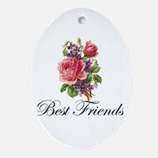 Best Friends Oval Ornament