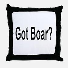 Got Boar? Throw Pillow