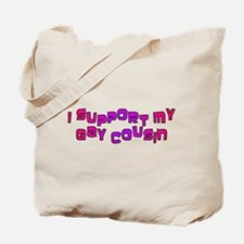I Support My Gay Cousin Pink Tote Bag