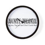 County Coroner Wall Clock