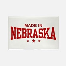 Made In Nebraska Rectangle Magnet