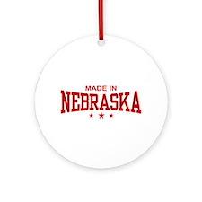 Made In Nebraska Ornament (Round)