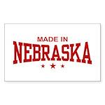 Made In Nebraska Rectangle Sticker
