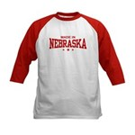 Made In Nebraska Kids Baseball Jersey